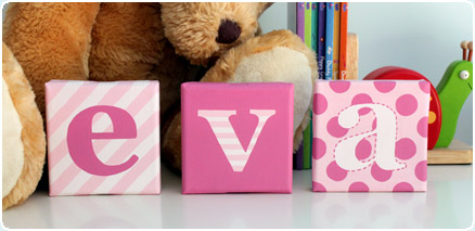 Patterned Alphabet Canvases